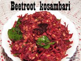 Beetroot kosambari i Beetroot moong dal salad