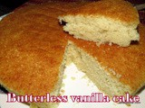 Butter less vanilla cake recipe