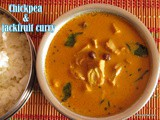Chickpea with Jack-fruit curry i Halasinakayi Sambar i Chana Ghassi