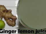 Ginger Lemon juice recipe