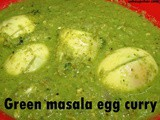 Green masala egg curry recipe