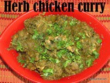 Herb chicken curry recipe