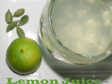 Lemon juice recipe