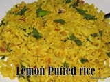 Lemon puffed rice upma
