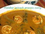 Malabar spinach prawn curry i Basale prawn curry i Basale yetti gasi