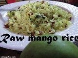 Mavinakai chitranna recipe i Raw mango rice