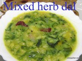 Mixed herb dal i side dish for roti's