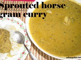 Molake hurlikalu saaru recipe i Sprouted horse gram curry