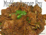 Mutton pepper fry recipe i Lamb pepper fry
