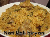 Nati Koli Biryani i Country chicken Biryani