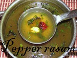 Pepper Rasam i Menasina saaru recipe