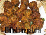 Puffed rice pakoda recipe