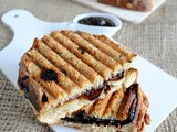 Chocolate and Fruit Toasties (Using Spelt Muesli and Raisin Bread)