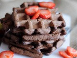 Chocolate Oatmeal Waffles (Sugar and Lactose Free)
