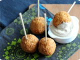Falafel served with a Coconut Curry Dip