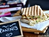 Grilled Eggplant and Courgette Paninis