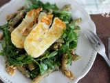 Grilled Halloumi and Mint Pesto Salad