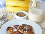 Quinoa, Cranberry and Banana Pancakes (Sugar-Free Recipe)