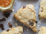 Raisin Oatmeal Scones (Sweetened with Honey)