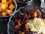 Red Cabbage Slaw & Sweet Potato Salad + Becoming a Meatless Monday Blogger on Board