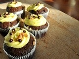 Rich Chocolate cupcakes with Buttercream Almond Topping feat. Jacques Chocolate