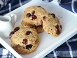 Spelt, Oatmeal & Cranberry Cookies: Sugar-free recipe