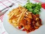 Summery Seitan Stew to accompany your Belgian Fries