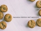 Banana coffee oat muffins