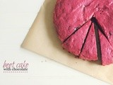 Beet cake with chocolate