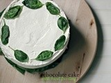Chocolate cake with basil buttercream