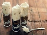 Frozen Frangelico coffee with maple cream