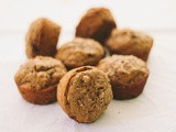 Pumpkin muffins with cacao nibs and whole wheat flour