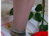 Banana and Rose Smoothie With Toasted Nuts