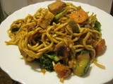 Cookbooks & Bookmarks, Part iii: Curried Noodle Stir-fry, Vanilla Coconut pb, Red pb Curry, Coleslaw, Soccattata, Enchilada Casserole & pb Breakfast Pudding