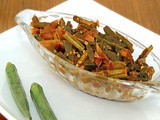 Bhindi Do Pyaza / Sauteed Okra Recipe