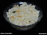 Butter Garlic Rice Recipe - Leftover Special