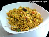 Veg Hyderabadi Dum Biryani Recipe