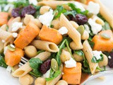 Arugula, Chickpeas and Sweet Potatoes Salad with Pasta