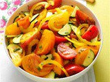 Heirloom Tomato and Zucchini Salad