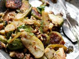 Roasted brussels sprouts and apple salad