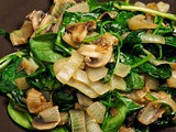 Sauteed Spinach, Onion and Mushroom Salad