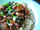 Black-Eyed Peas and Turnip Greens