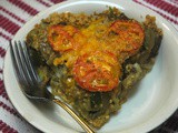 Eggplant Wheat Germ Pie