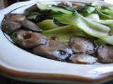 Oyster Mushroom Scallops with Baby Bokchoy