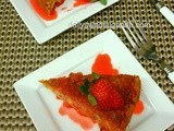 Carrot Cake Dessert with Strawberry Sauce