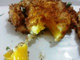 Deep Fried poached eggs|How to m ake deep fried poached eggs