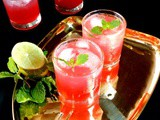 Plum lemon mocktail|Plum lemon fizzy mocktail