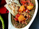 Slow cooker red lentil curry|Red lentil,onion and pumpkin curry with potao served in samosa wraps|Masoor daal with onion and pumpkin