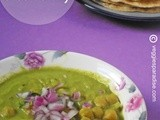 Aloo chana in green gravy
