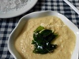 Coconut chutney with red chillies